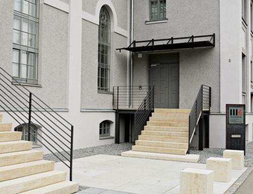 Außentreppe, Verlagsgebäude, Augsburg